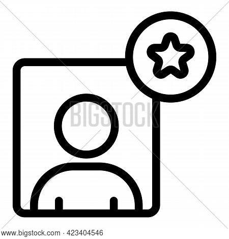Colleague Avatar Profile Icon. Outline Colleague Avatar Profile Vector Icon For Web Design Isolated