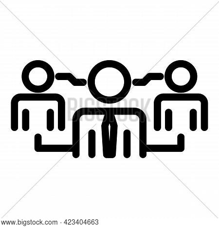 Colleague Business Group Icon. Outline Colleague Business Group Vector Icon For Web Design Isolated