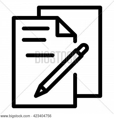 Colleague Papers Icon. Outline Colleague Papers Vector Icon For Web Design Isolated On White Backgro