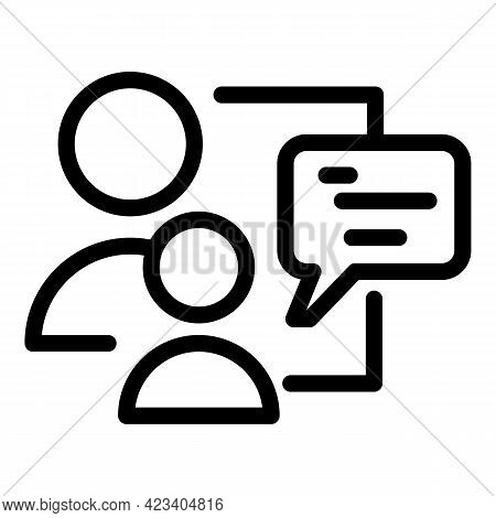Colleague Chat Icon. Outline Colleague Chat Vector Icon For Web Design Isolated On White Background