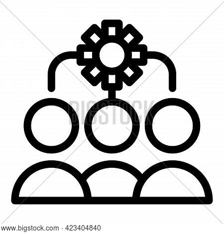 Colleague Team Icon. Outline Colleague Team Vector Icon For Web Design Isolated On White Background