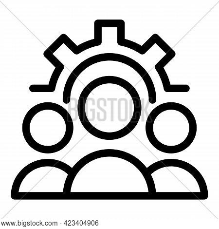 Colleague Organization Icon. Outline Colleague Organization Vector Icon For Web Design Isolated On W