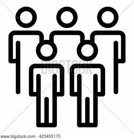 Colleague Friends Icon. Outline Colleague Friends Vector Icon For Web Design Isolated On White Backg