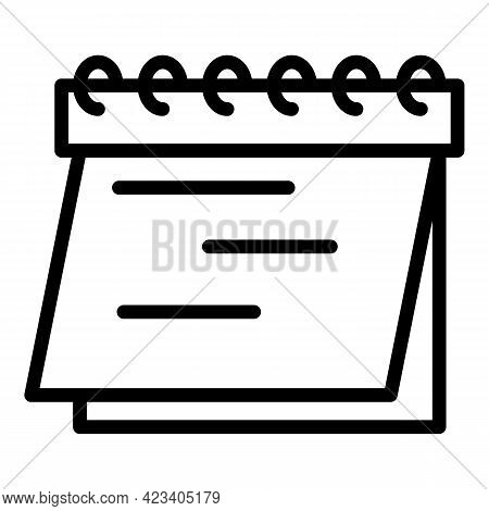 Event Planner Icon. Outline Event Planner Vector Icon For Web Design Isolated On White Background