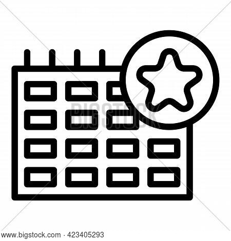 Event Planner Time Icon. Outline Event Planner Time Vector Icon For Web Design Isolated On White Bac