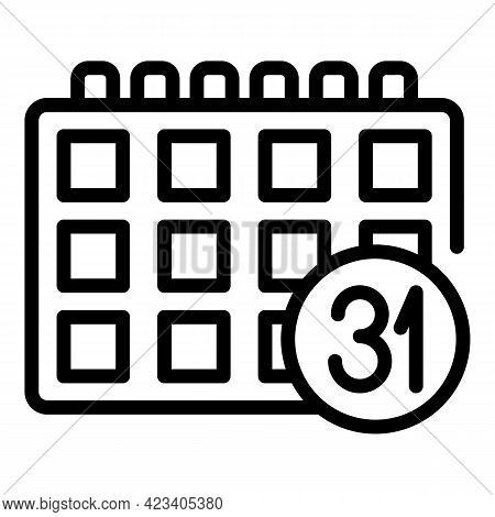 Event Planner Coordinator Icon. Outline Event Planner Coordinator Vector Icon For Web Design Isolate