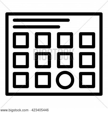 Event Planner Marriage Icon. Outline Event Planner Marriage Vector Icon For Web Design Isolated On W