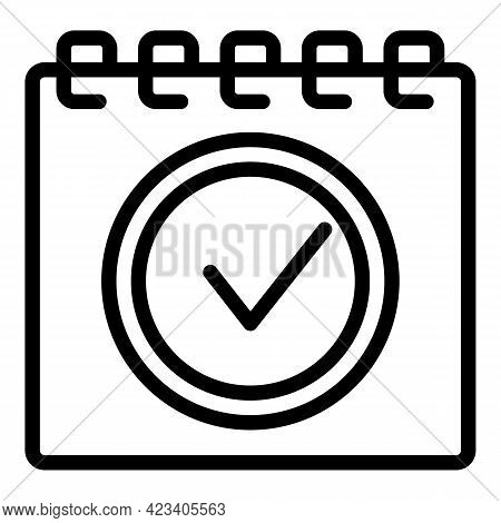 Event Planner Business Icon. Outline Event Planner Business Vector Icon For Web Design Isolated On W