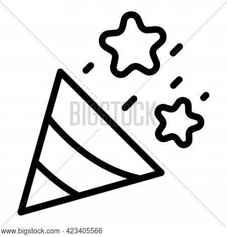 Event Planner Party Icon. Outline Event Planner Party Vector Icon For Web Design Isolated On White B