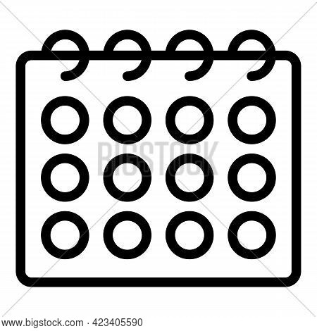 Event Planner Appointment Icon. Outline Event Planner Appointment Vector Icon For Web Design Isolate