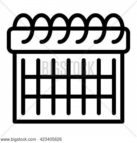 Event Planner Performing Icon. Outline Event Planner Performing Vector Icon For Web Design Isolated