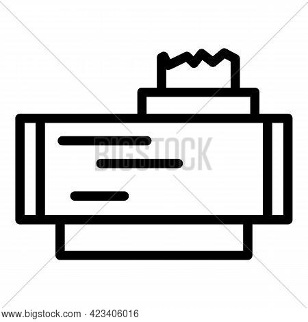 Taximeter Trip Icon. Outline Taximeter Trip Vector Icon For Web Design Isolated On White Background