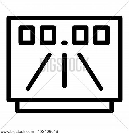 Taximeter Auto Icon. Outline Taximeter Auto Vector Icon For Web Design Isolated On White Background