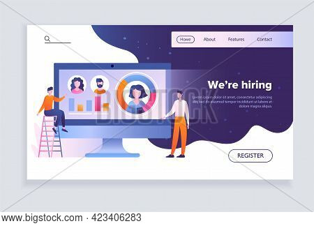 Male And Female Hr Managers Are Hiring New Candidates In Office. Concept Of Recruitment And Job Mana