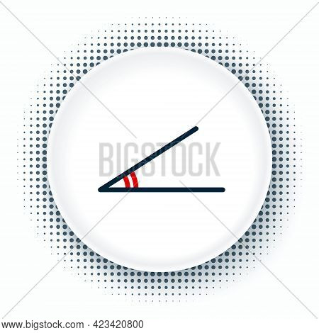 Line Acute Angle Of 45 Degrees Icon Isolated On White Background. Colorful Outline Concept. Vector
