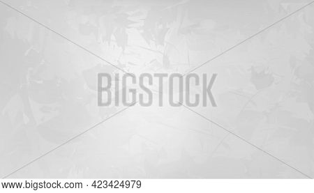 Background Grey Cement Texture Of Floor, Vector 3d Backdrop Of Gray Concrete Wall Room Surface With