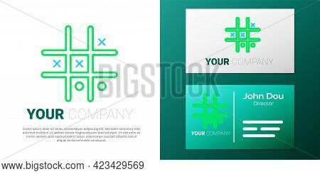 Line Tic Tac Toe Game Icon Isolated On White Background. Colorful Outline Concept. Vector