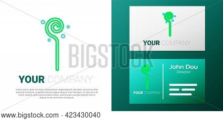 Line Magic Staff Icon Isolated On White Background. Magic Wand, Scepter, Stick, Rod. Colorful Outlin