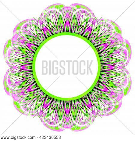 Ornate Ethnic Mandala.  Bright Luxury Oriental Motif. Fantasy Isolated Element For Design. Vintage V