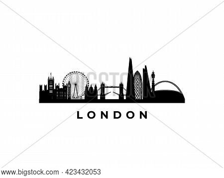 Vector London Skyline. Travel London Famous Landmarks. Business And Tourism Concept For Presentation