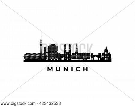 Vector Munich Skyline. Travel Munich Famous Landmarks. Business And Tourism Concept For Presentation