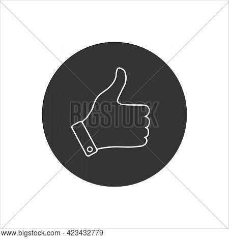 Like Line Icon, Hand Vector Icon, Good Symbol, Flat Design Best Vector Like Illustration