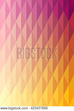 Abstract Pattern Background. Colorful Yellow, Orange, Pink, Purple Gradient Diamond Shape. Texture D