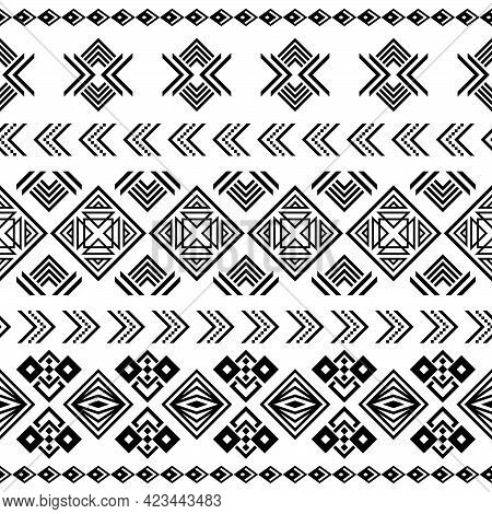 Geometric Pattern, Ethnic Pattern Or Tribal Pattern Of Ukraine Or North East. It\'s Also A Aztec Pat