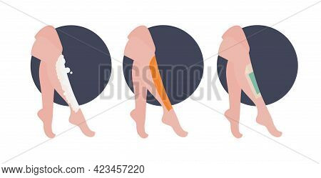 Set Beautiful Womens Legs With Depilatory Sugar Paste Wax Strip And Sugar Paste Skin Care Hair Remov