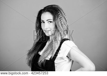 Facial Care. Stylish Hair. Woman In Hipster Trend. Makeup For Real Girl. Sexy Woman With Long Hair.