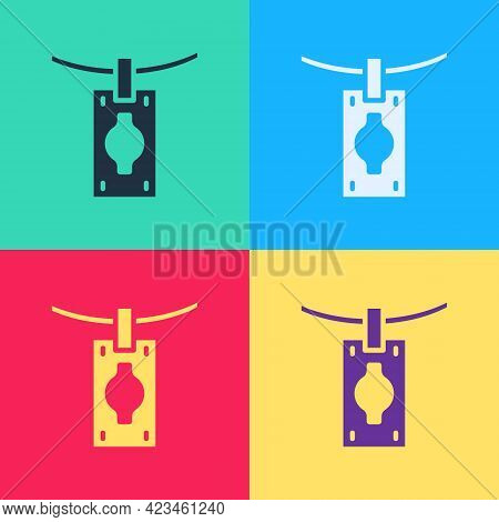 Pop Art Money Laundering Icon Isolated On Color Background. Money Crime Concept. Vector