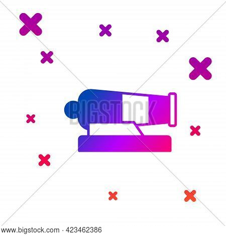 Color Cannon Icon Isolated On White Background. Gradient Random Dynamic Shapes. Vector