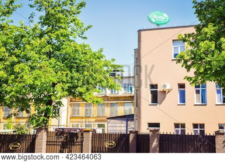 Siauliai, Lithuania - 7th June, 2021. Famous Confectionery Factory