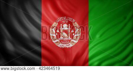 3d Rendering Of A National Afghanistan Flag