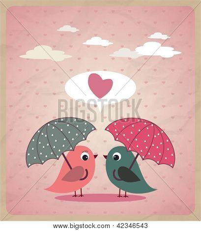 Love Birds.Vector