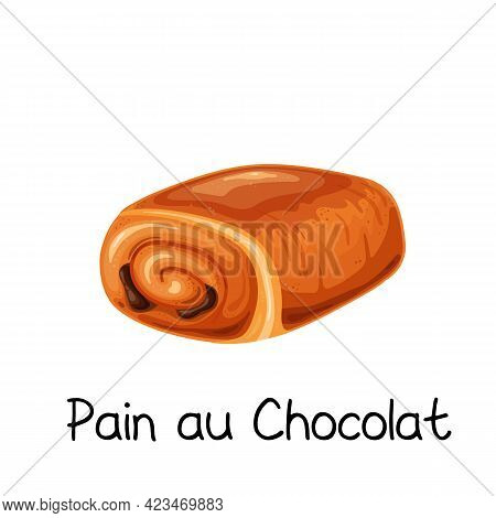 Pain Au Chocolat, Sweet Bun Roll Icon
