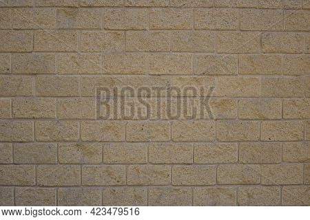 Background Of Gray Masonry Under Brick Wall Plaster, Construction Site