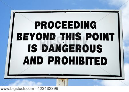 The Warning Sign On Half Moon Cay Beach To Divert Tourists From Island's Wilderness With No Actual D