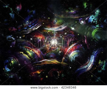 Colorful Spacy Background