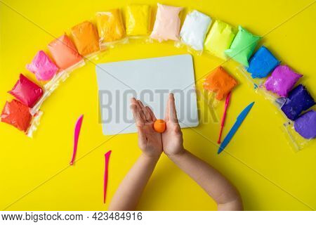 Air Plasticine Mass For Modeling Painted With Bright Colors, Ultralight Plasticine, All Colors Rainb