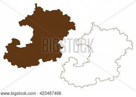 Saale-holzland District (federal Republic Of Germany, Rural District, Free State Of Thuringia) Map V