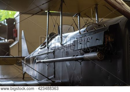 Duxford England May 2021 Close View Of A World War One Biplane Wolseley