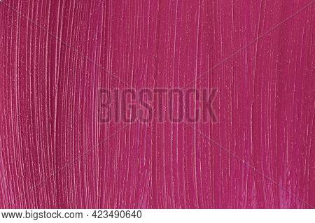 Purple Cosmetics Smear Pattern Background. Liquid Lipstick Cosmetic. Marsala Beauty Product Sample C