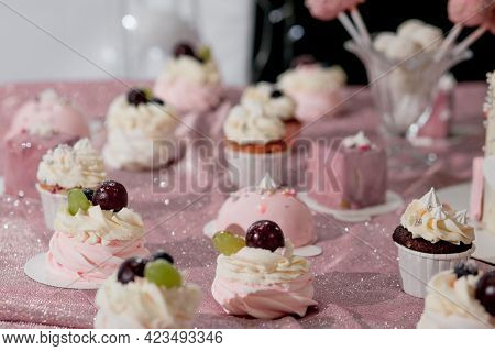 The Candy Bar With A Large Selection Of Different Desserts