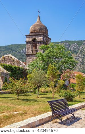 Montenegro, Old Town Of Kotor - Unesco World Heritage Site. Belfry Of Saint Clare Church, View From