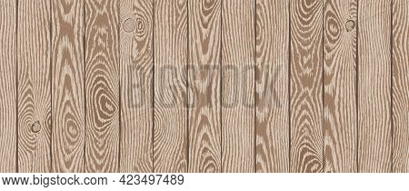Wood Texture. Old Textured Wooden Boards With Scratches. Brown Timber Plank Background. Highly Detai