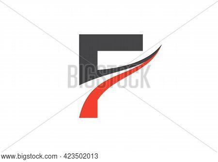Initial Monogram Letter F Logo Design Vector. F Letter Logo Design With Modern Trendy