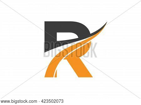 Initial Letter R Logo For Business And Company Identity. Modern Letter R Logo Vector Template With M