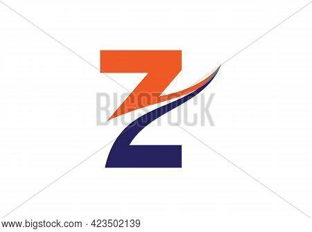 Monogram Letter Z Logo Design Vector. Z Letter Logo Design With Modern Trendy