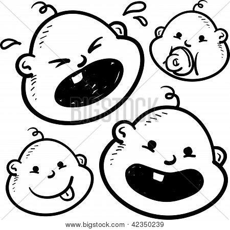 Baby emotions sketch